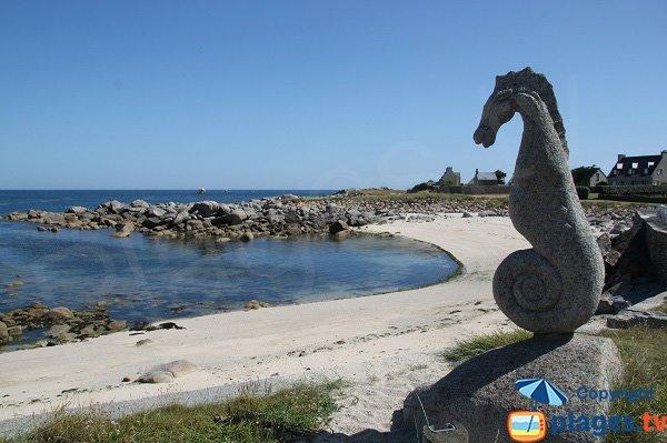 Photo de la plage de Porz ar Streat à Plouescat