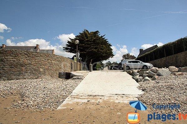 Accès à la plage de Porz ar Vag - Plomodiern