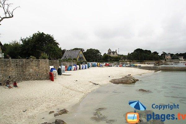 Photo de la plage de Porz Beg-Meil à Fouesnant