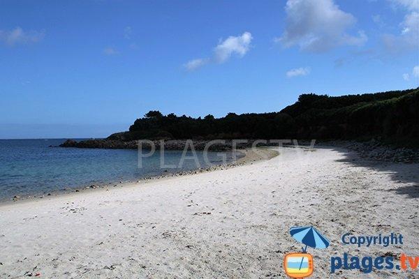 Photo de la plage de Porz Doun à Plouguerneau