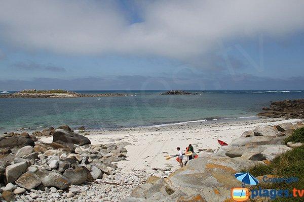 Photo de la plage de Porz ar Goret sur l'ile de Batz