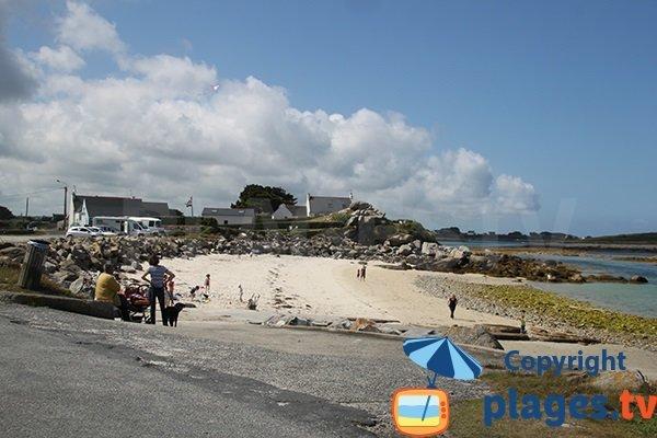 plage de Porz Grac'h à Plouguerneau