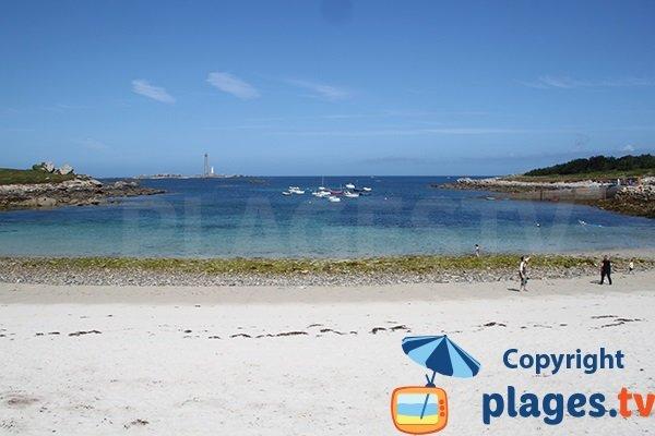 phare de l'Île Vierge depuis la plage de Plouguerneau