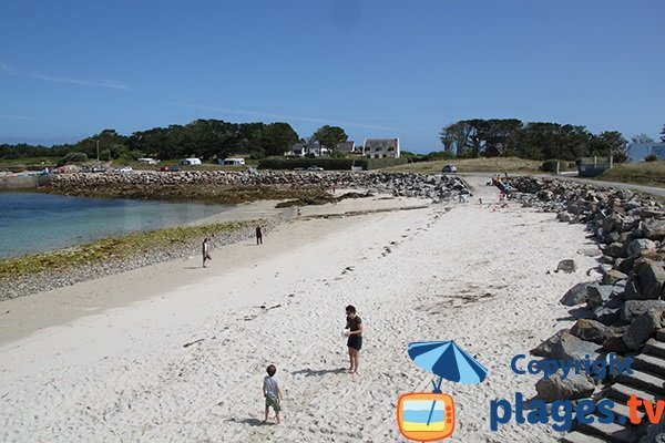 Photo de la plage de Porz Grac'h à Plouguerneau