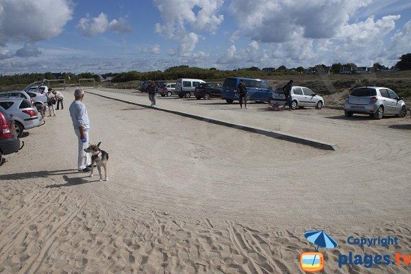 Parking de la crique de Porz Guen à Quiberon
