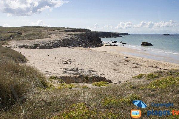 Photo de la plage de Porz Guen à St Pierre Quiberon