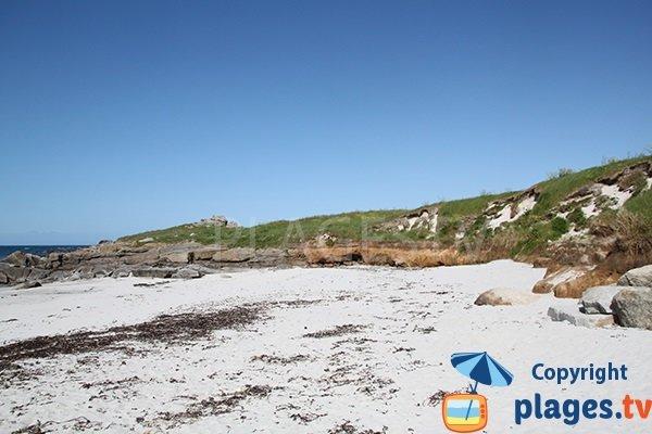 Dunes autour de la crique de Porz Gwen - Ploudalmézeau