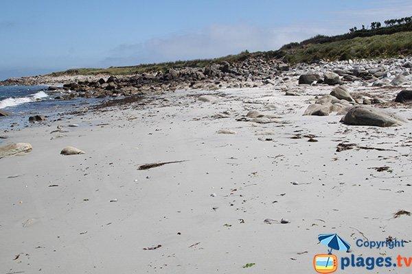 Partie de droite de la plage de Porz Gwenn - Ile de Batz