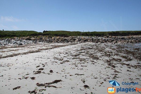 Partie gauche de la plage de Porz Gwenn