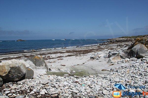 Photo de la plage de Porz Gwenn sur l'ile de Batz
