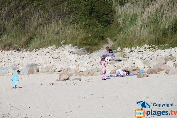 Environnement de la plage de Porz Gwenn - Pleumeur Bodou