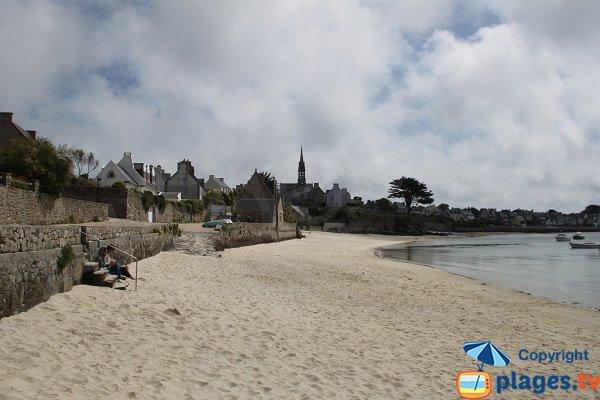 Accès à la plage du bourg de l'ile de Batz