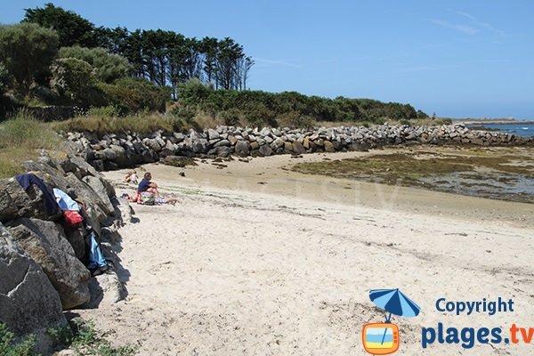 Plage de Porz Kelvet à Plouguerneau - Bretagne