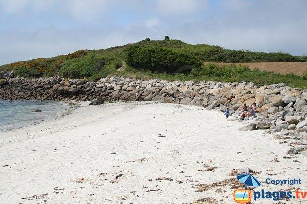 Photo de la plage de Porz Leien sur l'ile de Batz