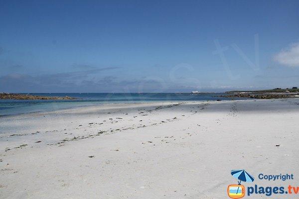 Plage paradisiaque sur l'ile de Batz