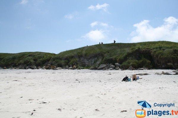 Sentier d'accès aux plages de l'ile de Batz
