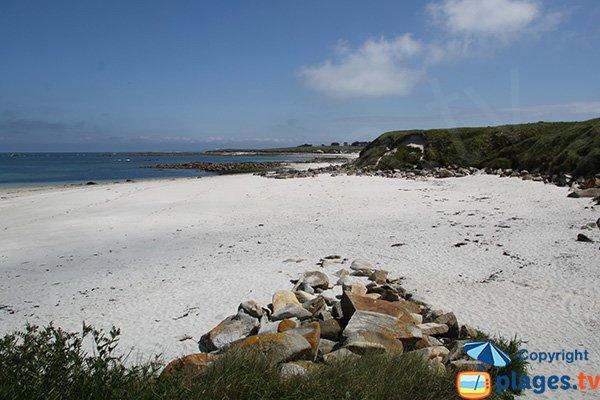 Photo de la plage de Porz Melloc sur l'ile de Batz