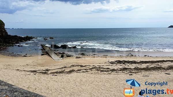 Photo de la plage de Porz Milin à Locmaria-Plouzané