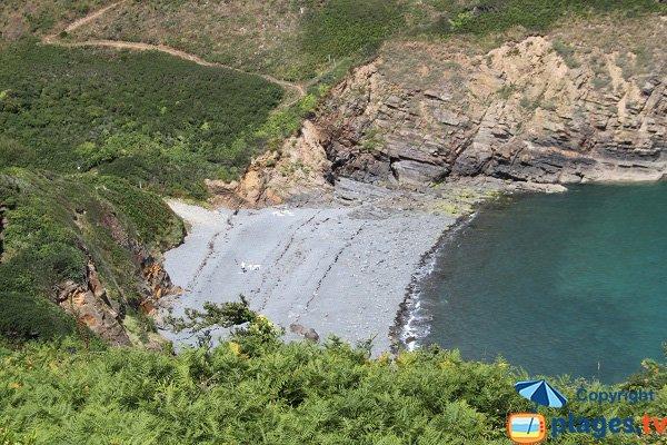 Plage de Porz Pin vue depuis les falaises - Plouézec