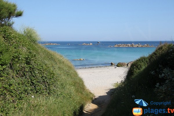 Porz Striz cove in Cléder in Brittany