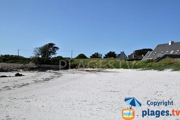 Photo de la plage de Porz ar Vilin Vraz à Ploudalmézeau