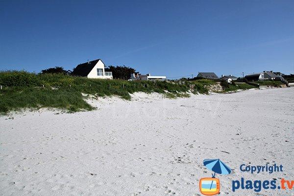 Dunes de la plage de Porz ar Vilin Vraz à Ploudalmézeau