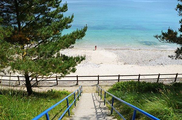 Access to Porzic beach in Crozon