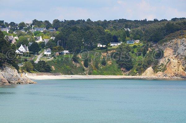 Vue générale de la plage de Porzic à Crozon