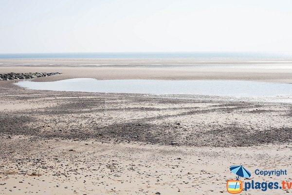 Potinière beach in Barneville Carteret at low tide