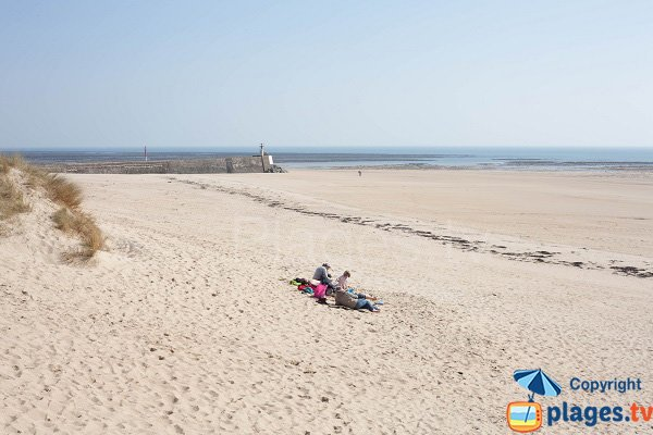 Carteret beach in Normandy