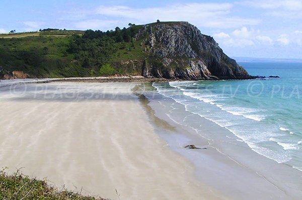 Photo de la plage du Poul à Crozon