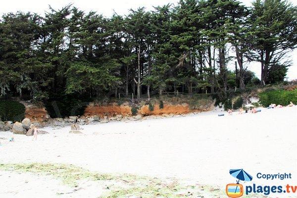 Erosion le long de l'estuaire de Tresseny - Kerlouan
