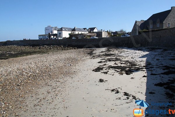 Beach of the port of Roscoff