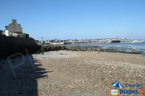 Port of Roscoff from the beach