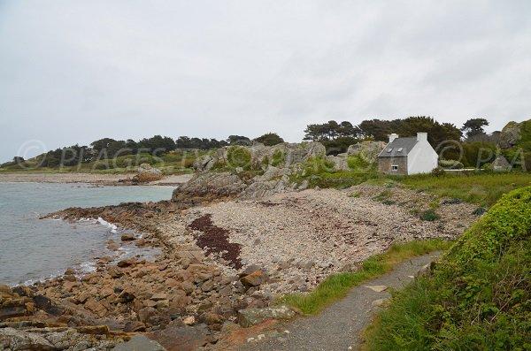 Photo de la plage de Poul Stripo en direction du Gouffre