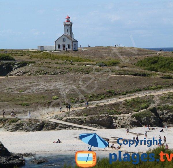 Plage et phare des Poulains - Belle Ile en Mer