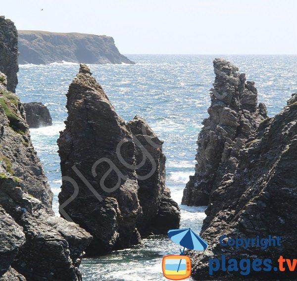 pieux de pierre de Belle Ile en Mer