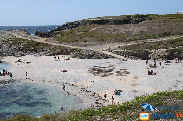 Photo de la plage des Poulains à Belle Ile en Mer