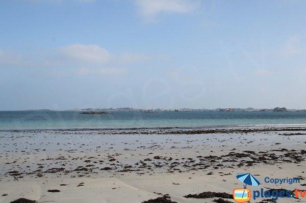 Plage de sable à Santec - Pouldu