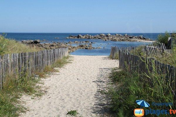 Accès à la plage de Poulfoën - Plouescat