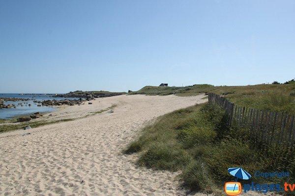 Dunes le long de la plage de Poulfoën à Plouescat
