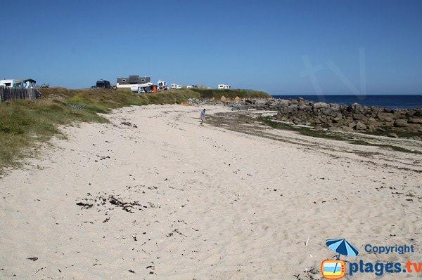 Camping à Plouescat à côté de la plage de Poulfoën