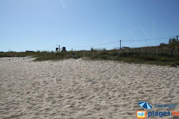 Bordure de plage de Poulfoën à Plouescat