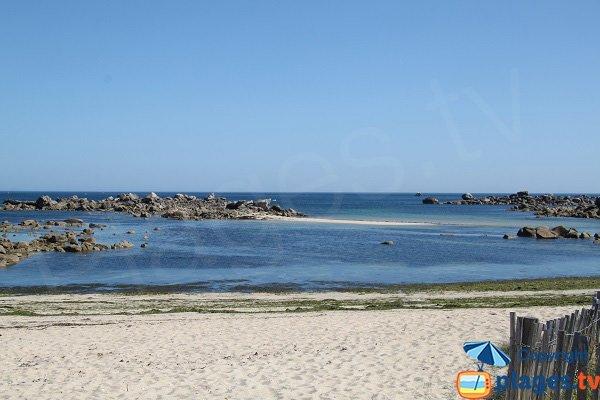 Photo de la plage de Poulfoën à Plouescat