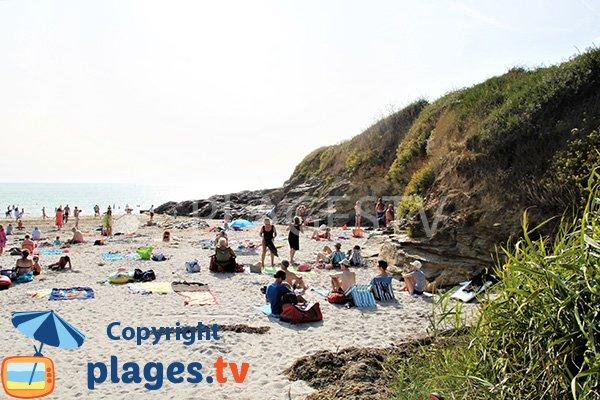 Falaises autour de la plage de Poulgor - presqu'ile de Rhuys