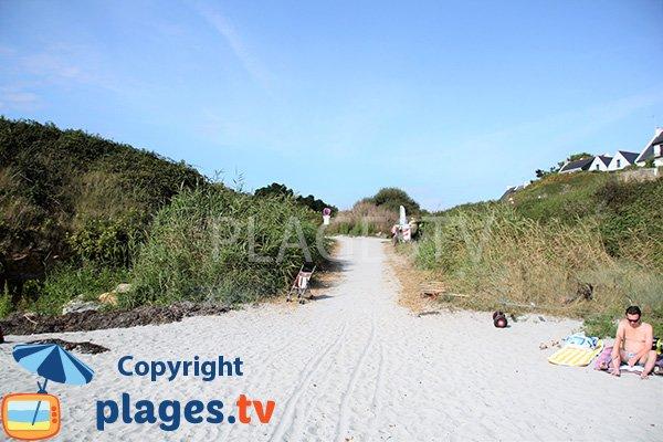 Accès à la plage de Poulgor - St Gildas de Rhuys