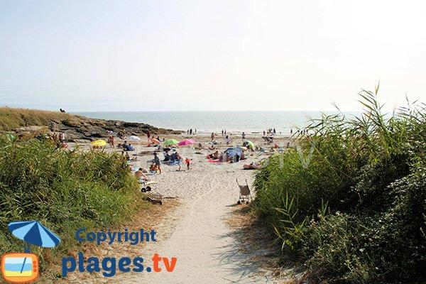 Photo de la plage de Poulgor à St Gildas de Rhuys