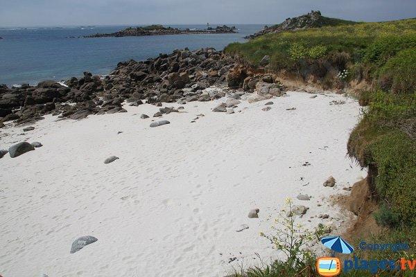 Sand cove of Poull C'Horz in Batz