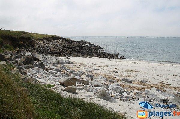 Rocks around the creeks of Poull C'Horz on the island of Batz