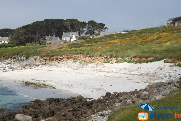 Cove sheltered from the winds on the island of Batz